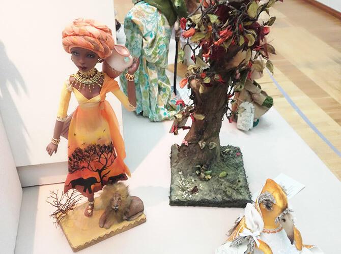 В Алматы прошла выставка кукол