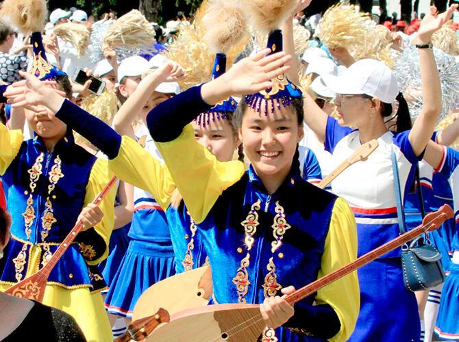 Парад оркестров в Алматы