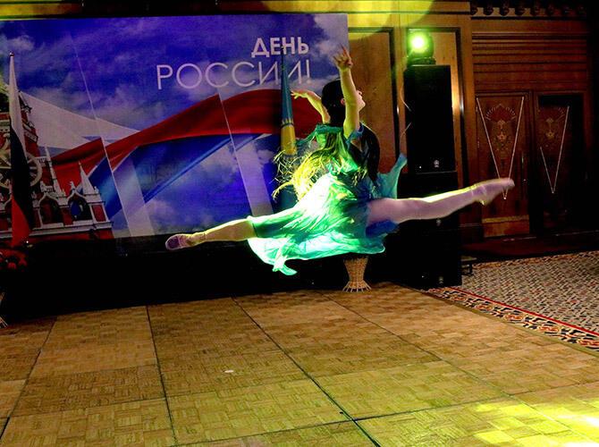 В Алматы состоялся прием, посвященный Дню России и 200-летию русского балета. Полёт - фото Светланы Карягиной