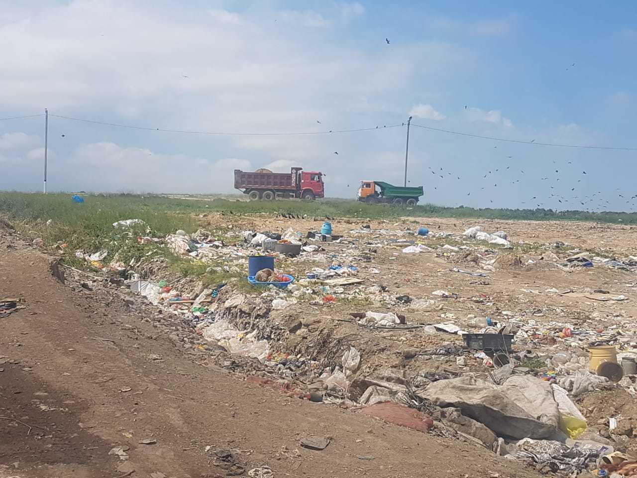 Пожар на мусорном полигоне в Алматинской области