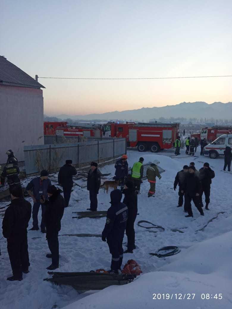 Фоторепортаж с места падения самолета под Алматы. Фото:МИИР РК