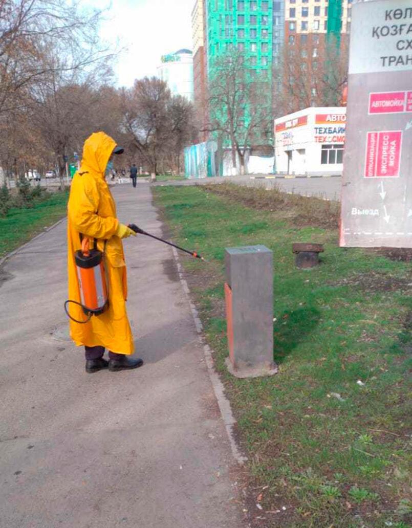 В Алматы проходит дезинфекция