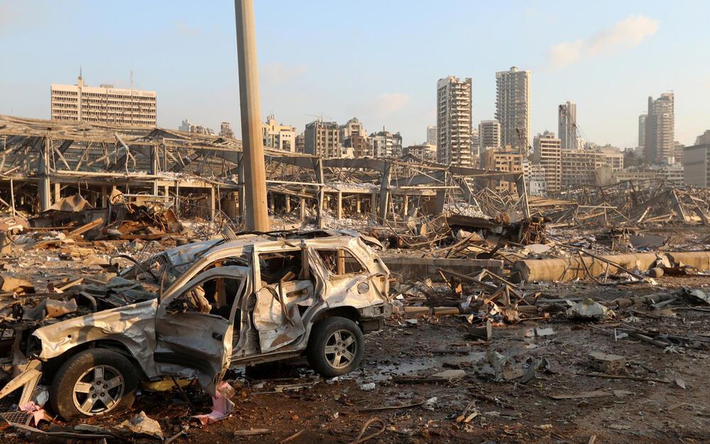 Последствия взрыва в Бейруте. Фото: www.gazeta.ru