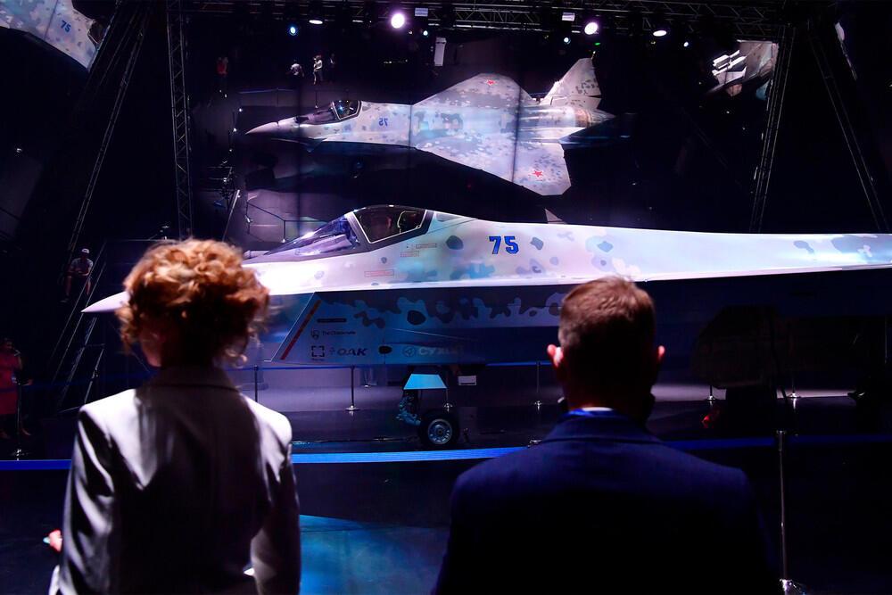 На МАКС-2021 показали российский истребитель 5-го поколения. Фото:Алексей Майшев/РИА «Новости»