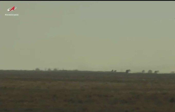Russia's Soyuz MS-18 spacecraft lands in Kazakhstan